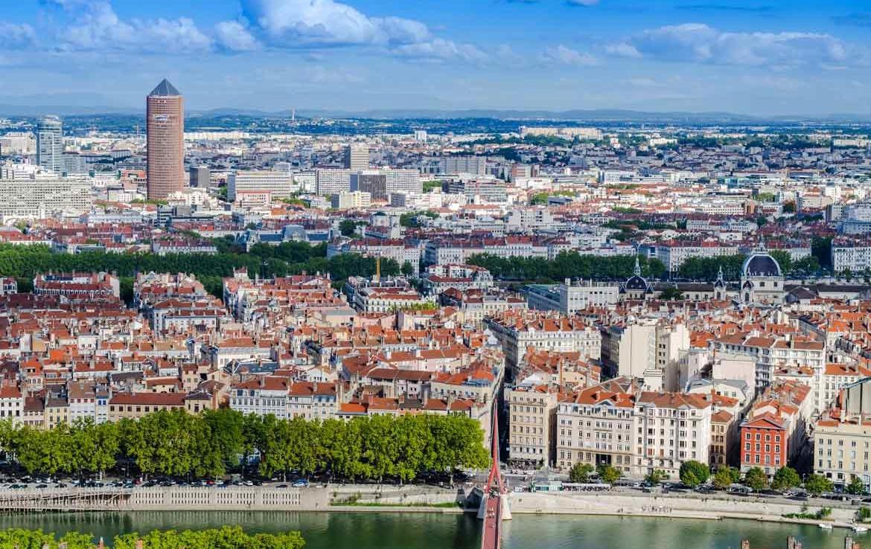 Fidexi - Vue de Lyon Part-Dieu - Résidence en Nue-Propriété à Écully