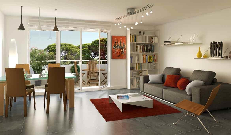 Perspective intérieure Folia Verde, Programme en Nue-Propriété à Montpellier