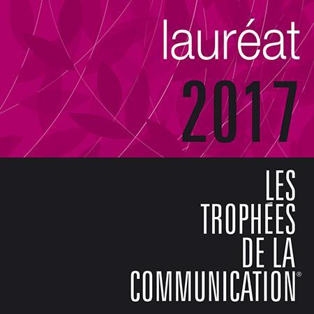 Lauréat 2017 des Trophées de la Communication