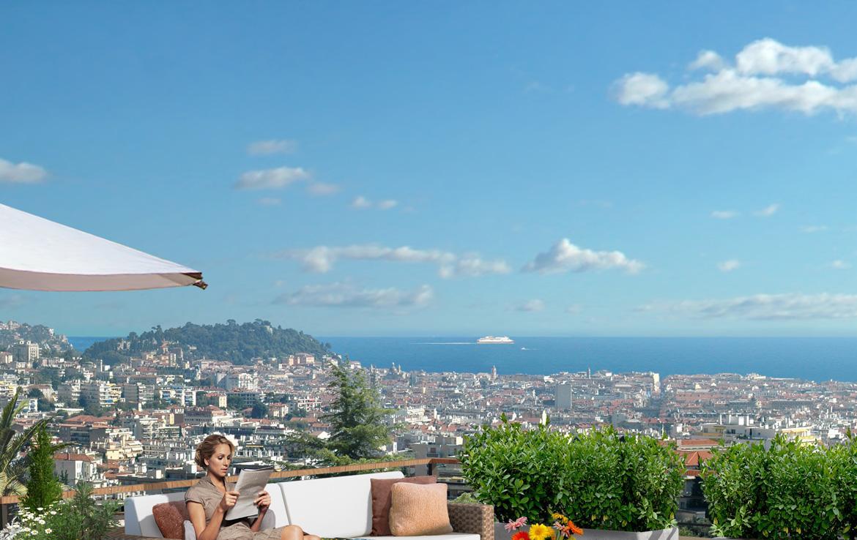 Fidexi - Résidence en Nue-propriété à Nice - Villa Angela - Vue Baie des Anges
