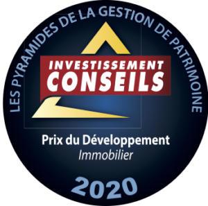 Les Pyramides de la Gestion de Patrimoine d'Investissement Conseils - Fidexi primée dans la catégorie Immobilier Développement