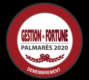 Palmarès Gestion de Fortune 2020, Fidexi primée dans la catégorie Démembrement