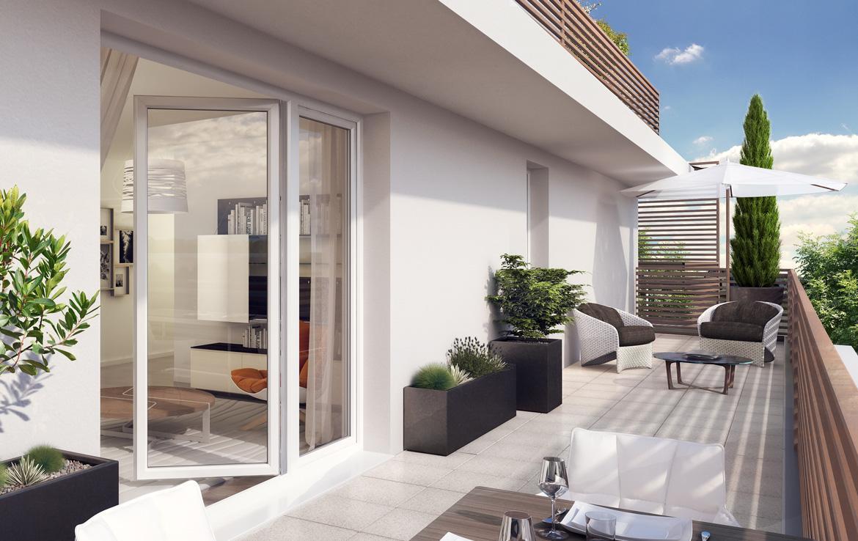 Fidexi - Résidence en Nue-propriété à Toulouse - In Situ - Terrasse