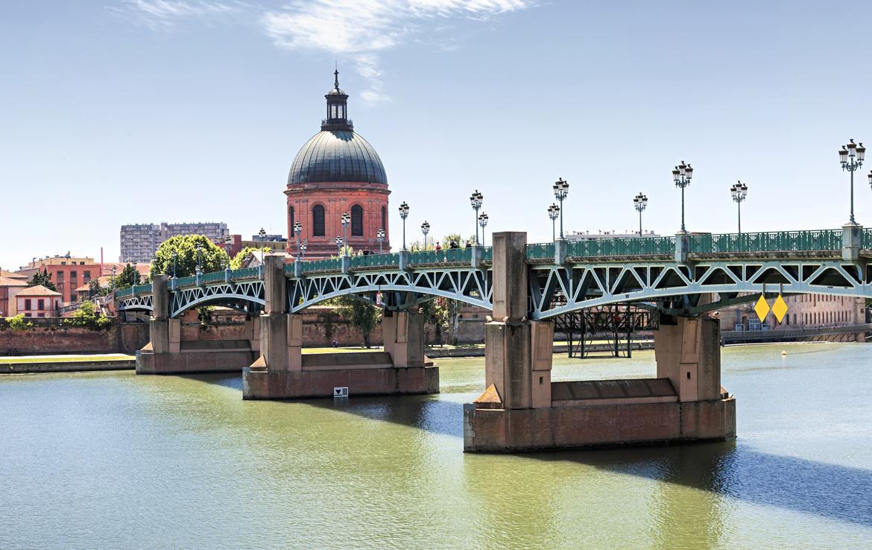 Nue-propriété à Toulouse, vue du Pont Saint-Pierre