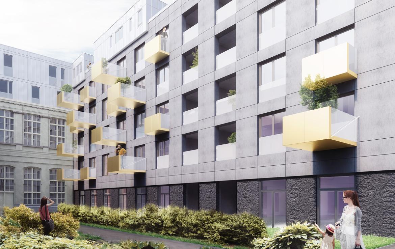 Fidexi - Résidence en Nue-propriété à Lille - Cosmopole - Cour intérieure