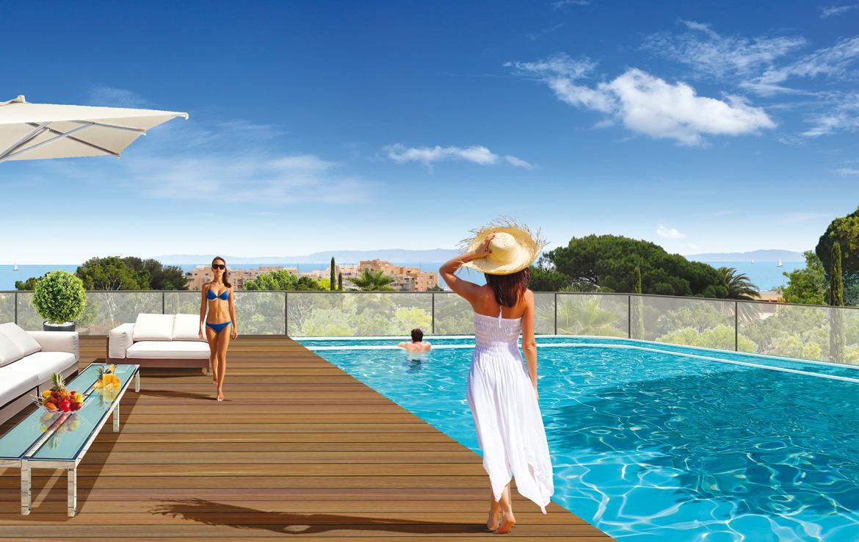 Fidexi - Résidence en Nue-propriété à Bormes-les-Mimosas - Villa Levante - Piscine sécurisée
