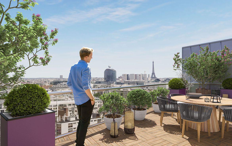 Fidexi - Résidence en Nue-propriété à Issy-les-Moulineaux - Ciel² - Vue sur Paris