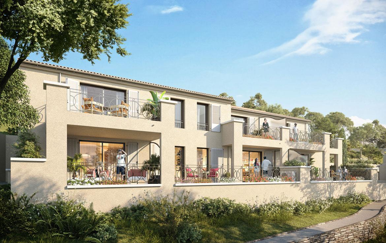 """Nue-propriété à Bormes-les-Mimosas, résidence """"Les Bastides de Bormes"""""""