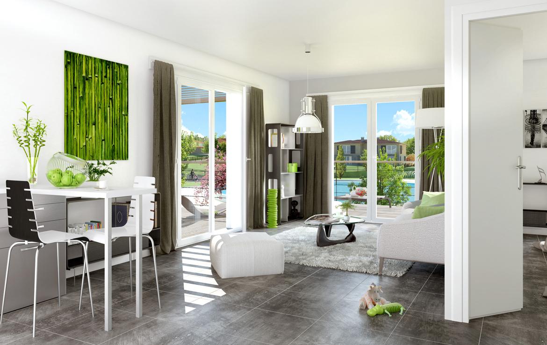 """Perspective intérieure de la résidence en Nue-propriété """"Only Roc"""" à Roquebrune-sur-Argens"""