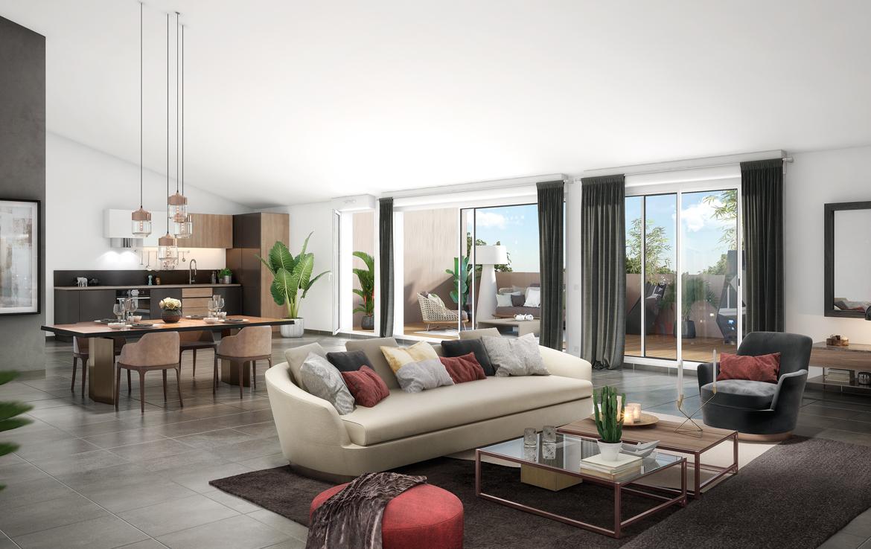 """Fidexi - Résidence en Nue-propriété à Toulouse - """"Le 234 Avenue"""" - intérieur"""