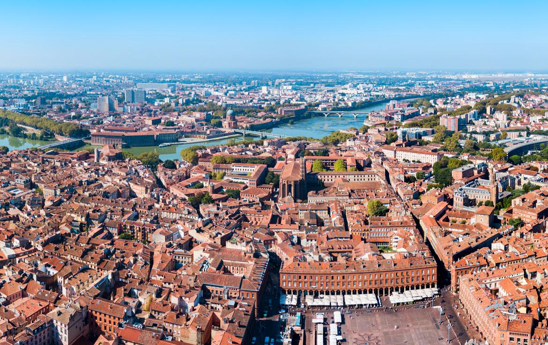 Nue-propriété à Toulouse - Toulouse vue du ciel