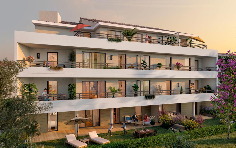 Investir en Nue-propriété à Cannes, résidence Les Jardins des Coteaux