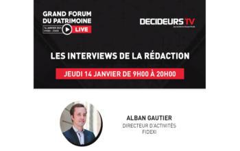 Grand Forum du Patrimoine - Live, interview d'Alban Gautier, Fidexi