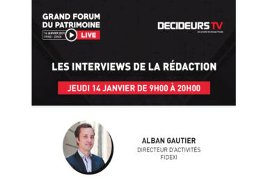 Grand Forum du Patrimoine - Live, interview d'Alban Gautier, Fidexi
