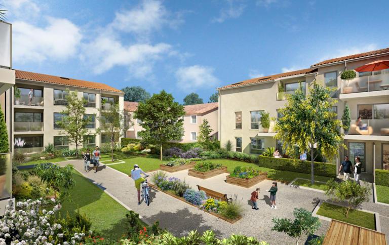 Investir en Nue-propriété dans l'ouest lyonnais à Chaponost, résidence Moon Park
