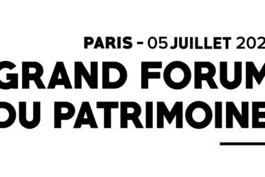 Grand Forum du Patrimoine 2021
